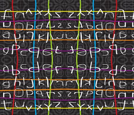 Alpha Betcha Chalkboard fabric by deeniespoonflower on Spoonflower - custom fabric