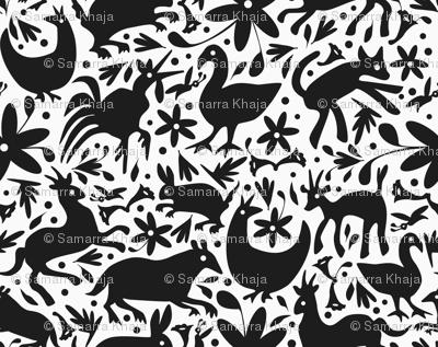 Mexico Springtime: Black on White (Large Scale)