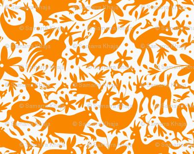 Mexico Springtime: Orange on White (Large Scale)