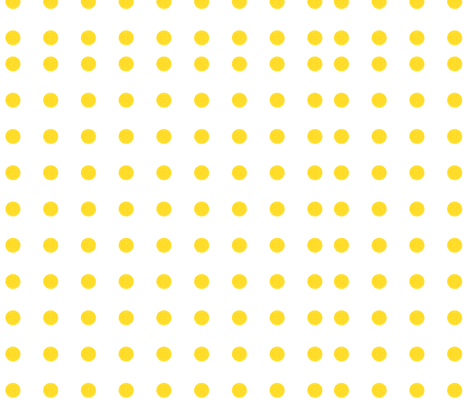 Yellow Polka dots fabric by rupydetequila on Spoonflower - custom fabric