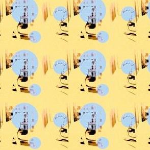 little boy spies (blue dots)