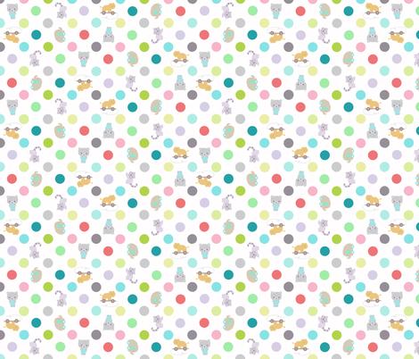 animal dots fabric by katarina on Spoonflower - custom fabric