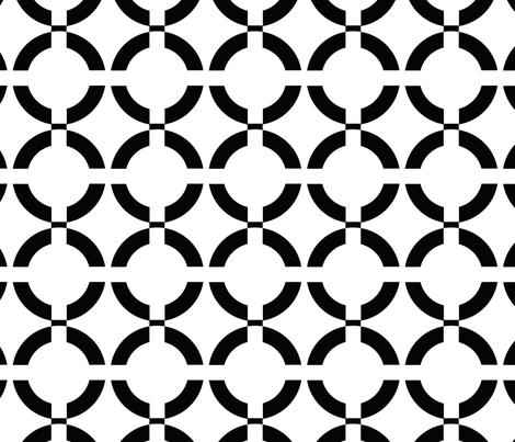 Black chain fabric by fleamarkettrixie on Spoonflower - custom fabric