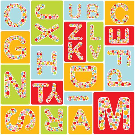 My alphabet fabric by martinaness on Spoonflower - custom fabric
