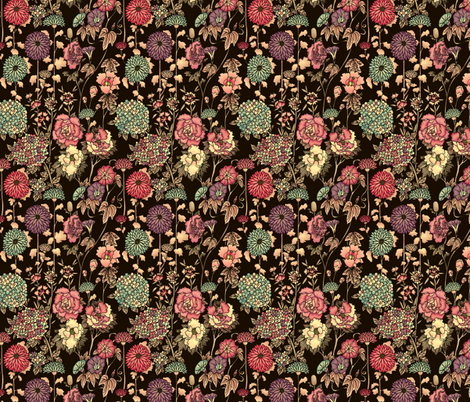 Oriental_Garden fabric by teja_jamilla on Spoonflower - custom fabric