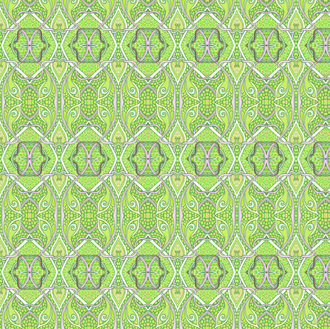 Bird Series, Lime Co-ordinate fabric by edsel2084 on Spoonflower - custom fabric