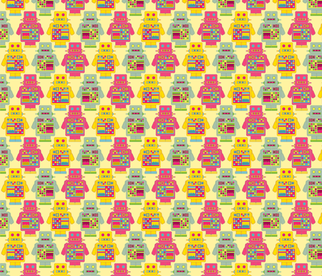 Robot Robot fabric by lydia_meiying on Spoonflower - custom fabric