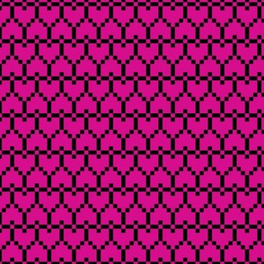 Small Pixel Hearts Pink