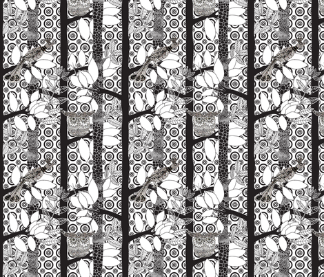 arbre_magique_in_white_dots_v3_M fabric by nadja_petremand on Spoonflower - custom fabric