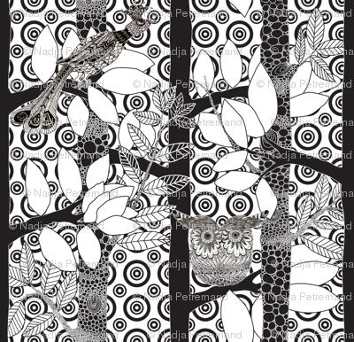 """arbre magique in white dots v3"""