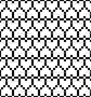 Big Pixel Hearts White