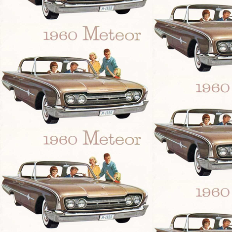 1960_Meteor Canadian only Ford advertisement fabric by edsel2084 on Spoonflower - custom fabric