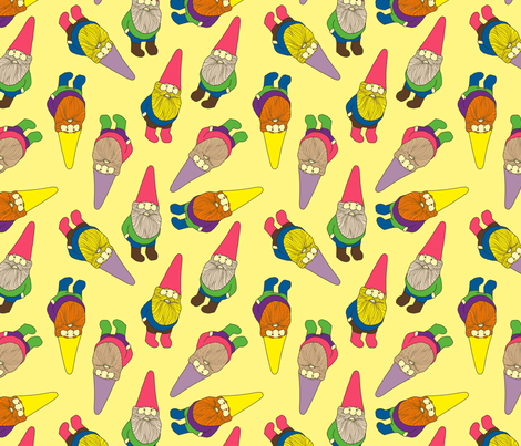 Garden Gnomes fabric by lydia_meiying on Spoonflower - custom fabric