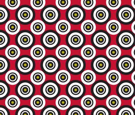pois_fond_rouge fabric by nadja_petremand on Spoonflower - custom fabric