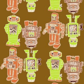 Playful Wind Up Tin Toy Robots