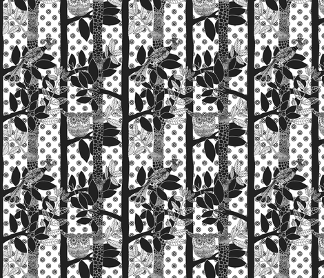 arbre_magique_dots_in_white_M fabric by nadja_petremand on Spoonflower - custom fabric