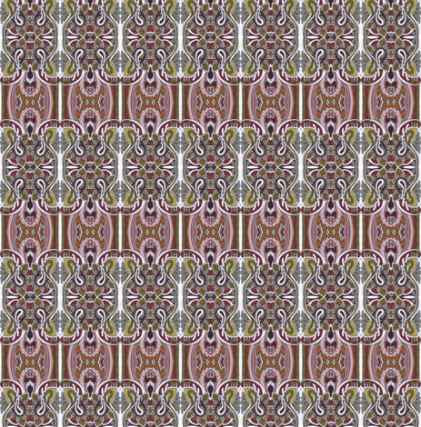 Chocolate Paisley Vertical Stripe fabric by edsel2084 on Spoonflower - custom fabric