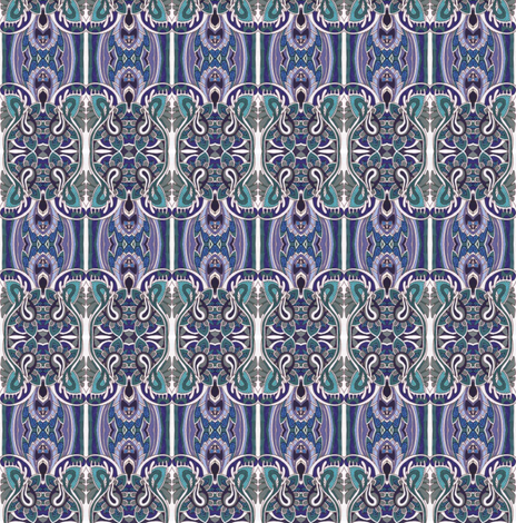 Retro Blues fabric by edsel2084 on Spoonflower - custom fabric