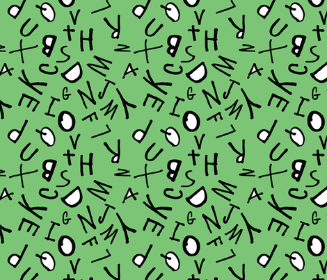Letter Scramble fabric by franny711 on Spoonflower - custom fabric