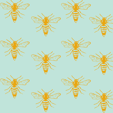 golden bees fabric by efolsen on Spoonflower - custom fabric