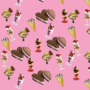 Various Ice Cream (Pink)