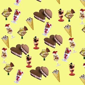 Various Ice Cream (Yellow)