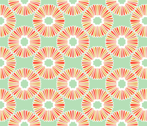 Flower - Bright fabric by elephantandrose on Spoonflower - custom fabric
