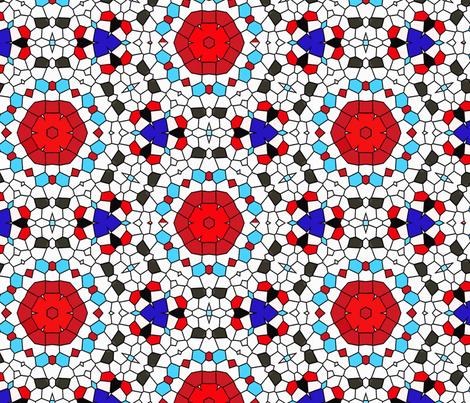mosaic circles fabric by heikou on Spoonflower - custom fabric