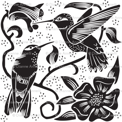 Hummingbird BW Design