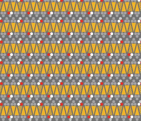 Ice Cream Abstract Grey fabric by newmomdesigns on Spoonflower - custom fabric