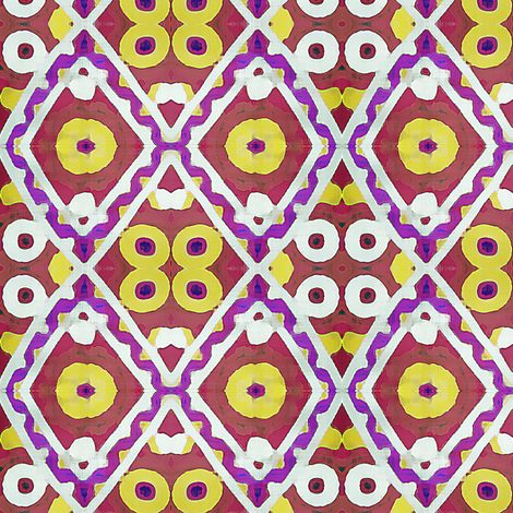 Watered Suzani  fabric by susaninparis on Spoonflower - custom fabric