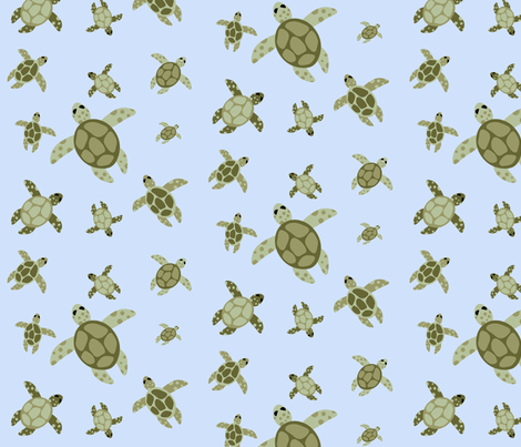 Sea Turtle Dance  fabric by jsdesigns on Spoonflower - custom fabric