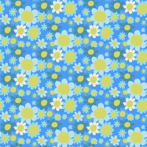 flowersIll fabric by cleverviolet on Spoonflower - custom fabric
