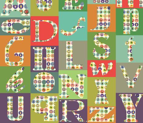 alphabet mash fabric by heidikenney on Spoonflower - custom fabric