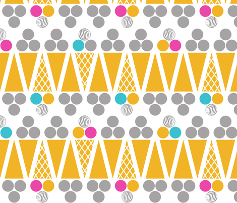 Three scoops fabric by newmomdesigns on Spoonflower - custom fabric