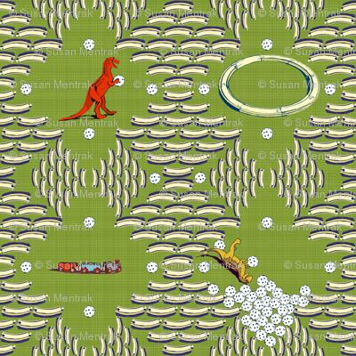 Plastic Golf Ball Tree Bowling - Grass