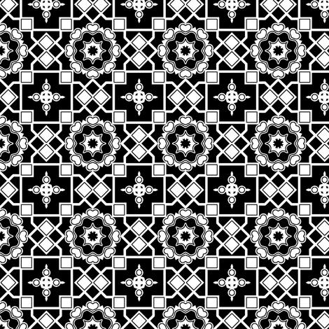 White Hearts in my Darkened Window. fabric by rhondadesigns on Spoonflower - custom fabric