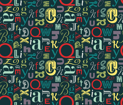Type Circus fabric by paperstories on Spoonflower - custom fabric