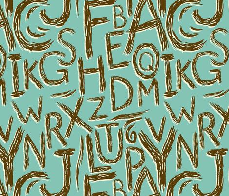 Alphabet fabric by alex_lasher on Spoonflower - custom fabric