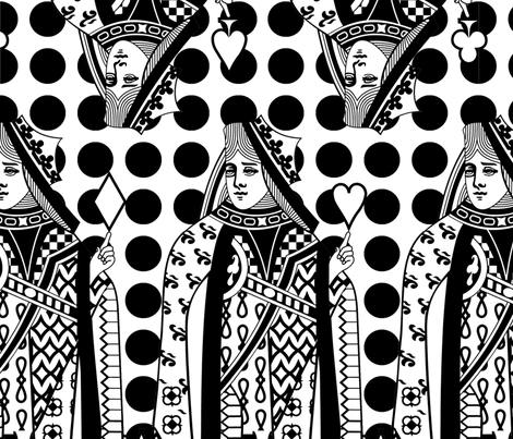 Queen Dot - large scale fabric by thirdhalfstudios on Spoonflower - custom fabric