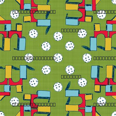 Blocks & Plastic Golfballs