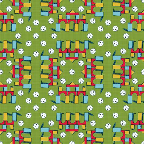 Blocks & Plastic Golfballs fabric by joybucket on Spoonflower - custom fabric