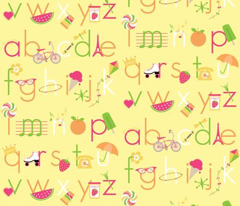 Summer Days Alphabet fabric by inktreepress on Spoonflower - custom fabric