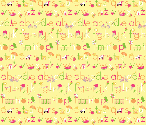 Summer Days Alphabet fabric by ejrippy on Spoonflower - custom fabric