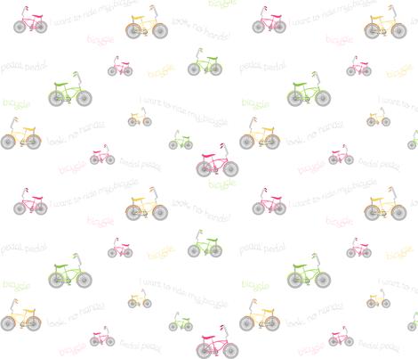 Banana Seat Bicycles fabric by inktreepress on Spoonflower - custom fabric