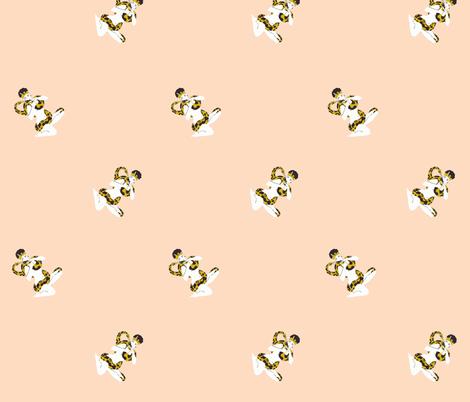 Powder Pink Snake Charmer fabric by kissysuzuki on Spoonflower - custom fabric