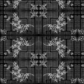 Flower Grid-BW