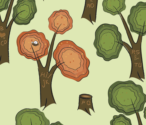 read the forest fabric by tripledot on Spoonflower - custom fabric
