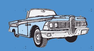 1959 Edsel Corsair convertible (blue on blue)