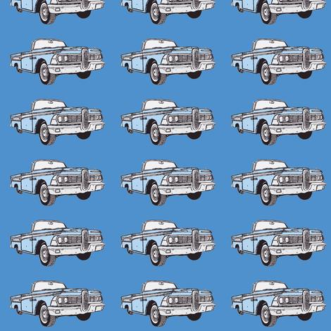 1959 Edsel Corsair convertible (blue on blue) fabric by edsel2084 on Spoonflower - custom fabric